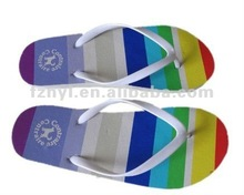 fashion colorful plain beach slippers flip flops 2012 sandals