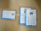 Plastic PVC name card hard PVC badge holder
