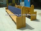 Wooden Fabric Church Bench ,OAK Church Pew,Church Chair