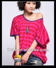 2012 fashion latest design wholesale ladies t shirt fabric