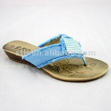 2012 Fashion Plastic Crystal Wedge Flip Flops