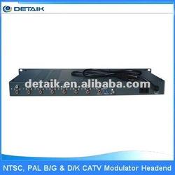 JM-8U 8 in 1 Modulator Demodulator / satellite SAW Filtered UHF VHF TV 8 Channels Separated Agile Modulator