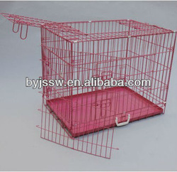 PVC Coated Double Dog Cage With Plastic Tray