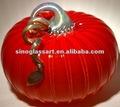 kırmızı murano cam cadılar bayramı balkabağı süsleri satılık