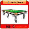 2014 sliver black golden Solid Wood 9ft Silver Pool Table