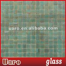 Emerald golden line mosaic murano glass tile