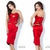 Fabulous Sheath Plus Size Bright Red Cocktail Dress