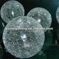 New hot vente 2015 décoratifs en verre clair crackle verre balles. boule creuse