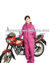 adult pink raincoat PVC rain coat/fashionable rain jackets