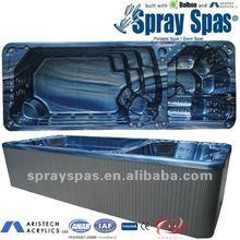 Large swim spa SW-59A acrylic shell balboa control PS skirting ABS floor fiberglass swimming pool
