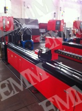 EMM50 pipe punching line/ pipe hole punch/ NC tube puncture machine