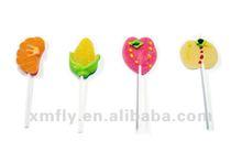 Fruit shape soft jelly pop