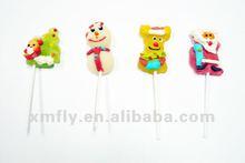 Animal shape soft jelly pops candy