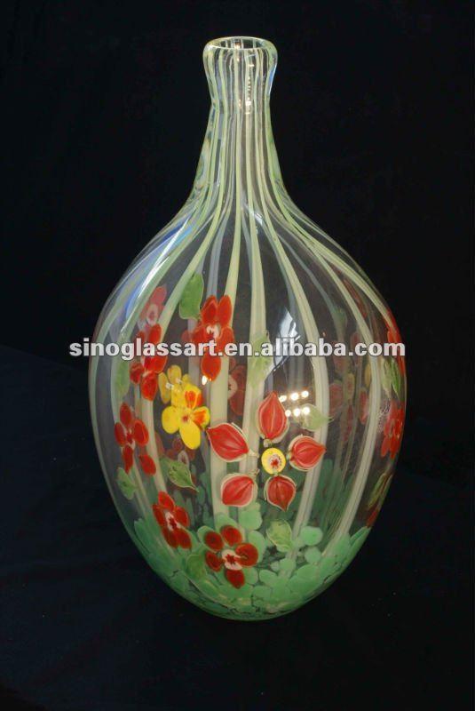 murano decorativo vaso di vetro per composizioni floreali