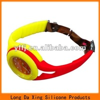 silicone color strap watches