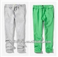 unisex 100% cotton casual Sports sweat Pants