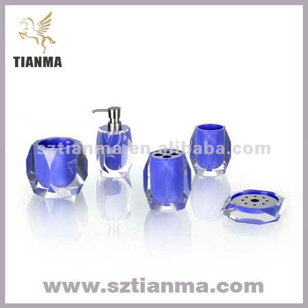 Royal blue bathroom accessories home decorators collection for Bathroom decor royal blue