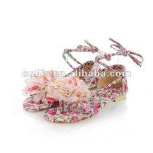 women flat sandals 2012 guangzhou product girl's shoes GPH307