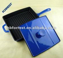Cast iron happy call dubble pan griddle