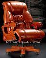 De color marrón de lujo silla ejecutiva, respaldo alto jefe de comedor, ceo reclinables silla de oficina( foha- 20#)