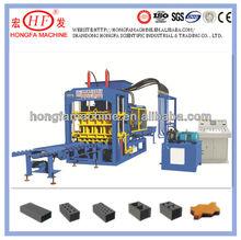 QT6-15B Concrete cement hollow solid blocks making machine color face bricks making machinery