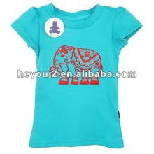 Popular 100% cotton embroidered trendy kids tshirt hypercolor t-shirt