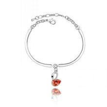 (b053019) Fashion Red Diamond Silver Plating alloy Bracelet