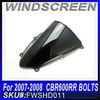 Free samples Motorcycle Wind shield windscreen wind screen for CBR600RR 2007 2008 black color