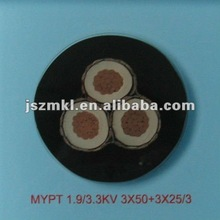 2013 Rubber-sheathed coal cutter shielding mining cables