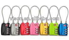 Travel Luggage Lock TSA Cable Lock TSA Combination Lock