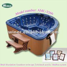 Romantic outdoor hot spa tub fiberglass tubs sexy family spa tub