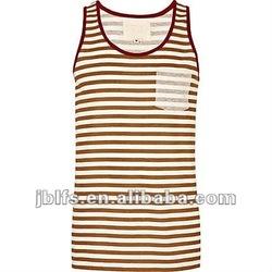 OEM summer popular slim fit stripe pocket vest for mens