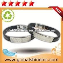 2012 flashing led silicone wristband /bracelet