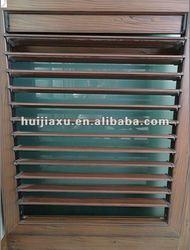 fixed frame bronze louver window,bronze color louver frame,aluminum shutter louvers