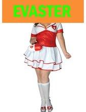 Plus size sexy women white nurse uniform