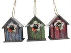 New style wooden bird house with rose