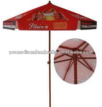 Full color printing beer advertising aluminum patio garden parasol