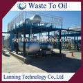 la fábrica de china de chatarra de plástico o de reciclaje de neumáticos de la máquina que hace de la planta de aceite
