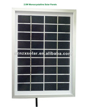 2.5W Monocrystalline Solar Panels