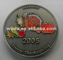 Thanksgiving Day Metal Medal