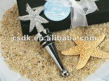 Elegant starfish beach theme design wine bottle stopper wedding favor