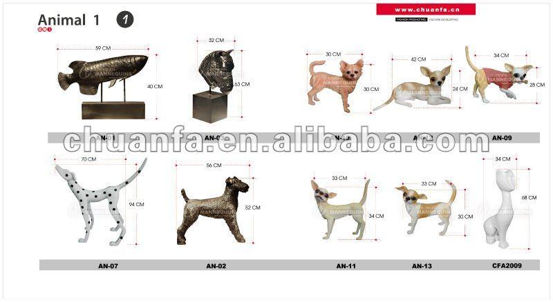 De fibra de vidrio maniqu es del perro maniqu es - Maniqui de perro ...