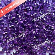 Bright Medium Purple Color Round 2.5mm Natural Amethyst Stock