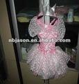 Vestido de princesa/vestido de color rosa para la niña/rosa trajes de hadas para la niña