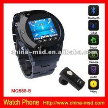 2012 Business bluetooth metal watch cell phone MQ888