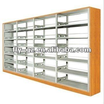 2012 caliente de la venta de madera de acero de diseño de la colección biblioteca/madera bookrack/librería moderna