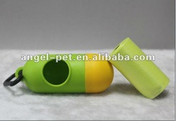 Green dispenser with waste bags/pet supplies/pet cleaning