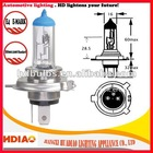 E4 approved H4 clear xenon halogen bulb