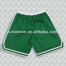 reversible printing basketball shorts