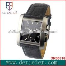 De rieter montre chine shenzhen japon movt quartz montre OEM n ° 1 calendrier complet et semaine en acier inoxydable montre - bracelet